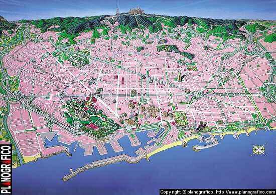 Barcelona Guide Online Map